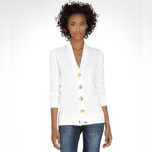 Tory Burch Button Down Cotton Simone Cardigan XL